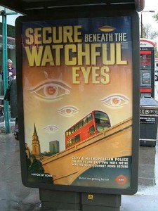 "Transport For London ""Secure beneath the watchful eyes,"""