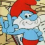 Papa Smurf Devil's Horns