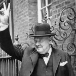 Winston Churchill V Sign