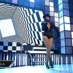 Rihanna Checkered Floor