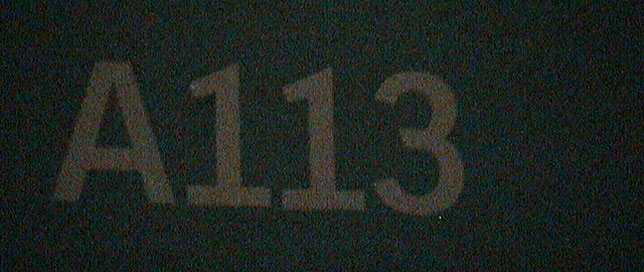 THE Sign formally on the door of Room A113 of the California Institute of the Arts