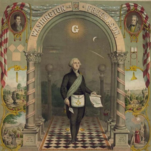 Portrait of Washington in Masonic Regelia