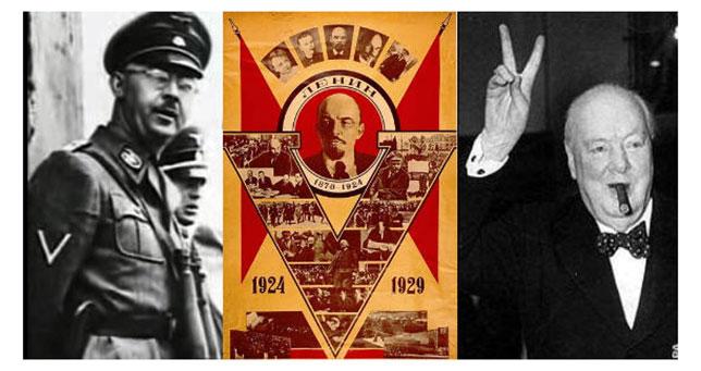 From left to right: Himmler, Lenin, Churchill