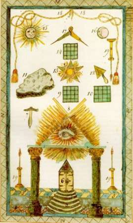 German Masonic Tresleboard, 1770