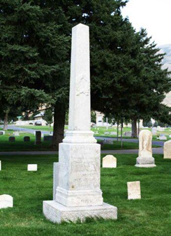 Illuminati symbols Mormon Prophet Lorenzo Snow Grave