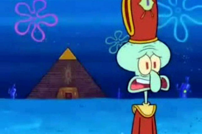 Squidward forever banished from the Cephalopod Lodge