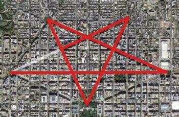 Illuminati symbols Streets of Washington DC Pentagram