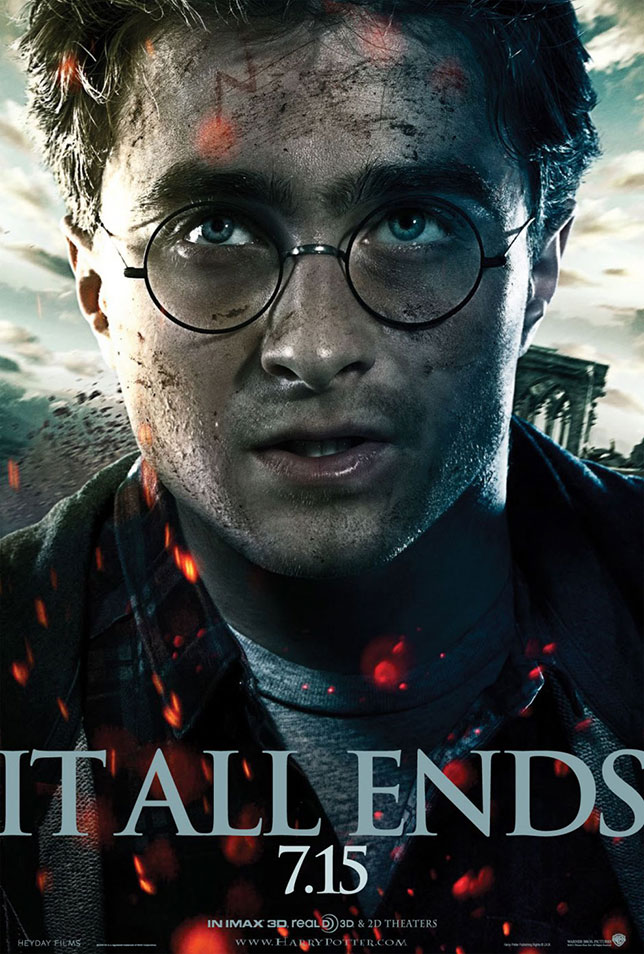 Theatrical poster for Harry Potter and the Deathly Hollows (Warner Bros.)