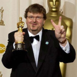 Michael Moore V Sign