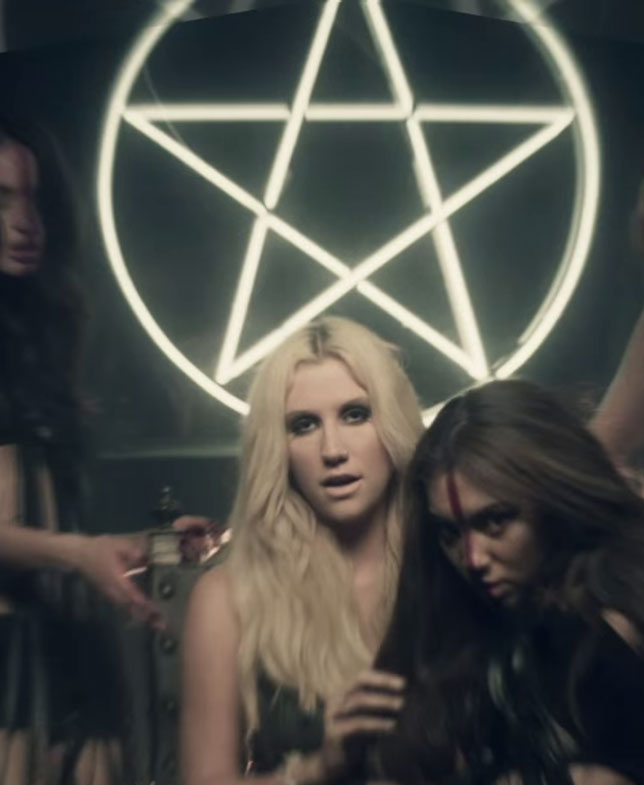 illuminati sign Kesha die young pentagram