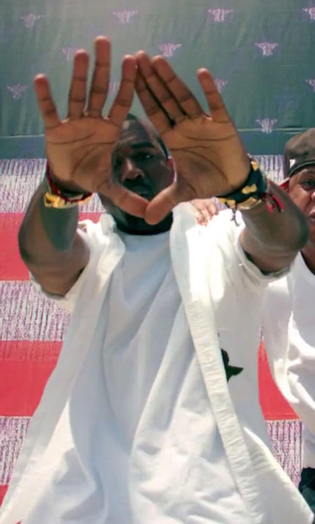 illuminati signs Kanye West Otis roc sign 1