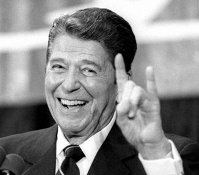 illuminati signs Ronald Reagan Devils Horns