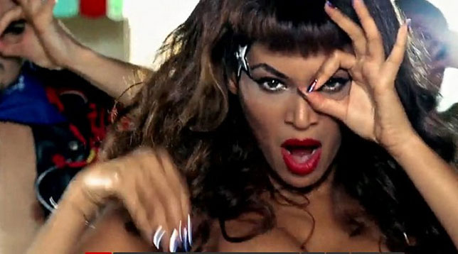 Beyonc And Lady Gaga Telephone Triple Six Illuminati Symbols