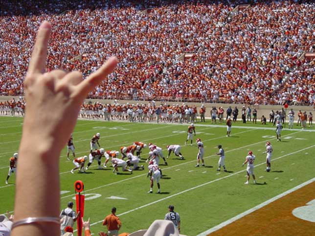 Hook 'em Horns - slogan and hand signal for the University of Texas