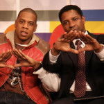 Jay Z and Denzel Washington Pyramid Sign