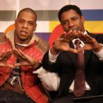 Jay Z and Denzel Washington Pyramid Sign