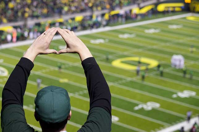University of Oregon's 'O' Sign