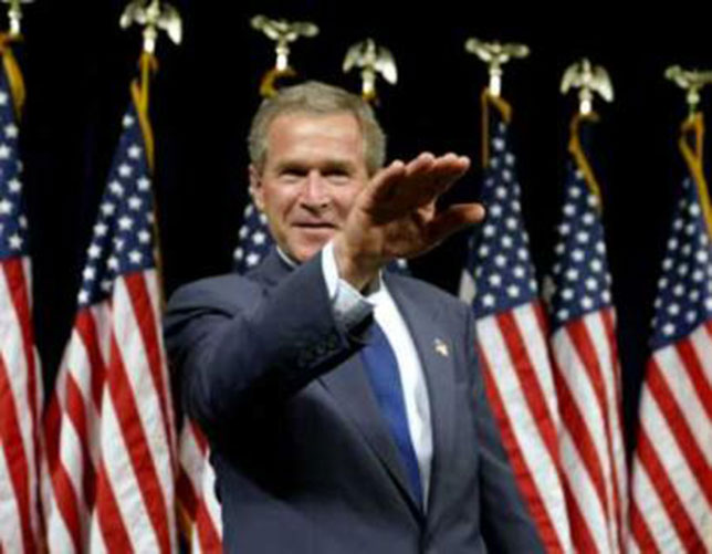 illuminati signs w bush nazi salute