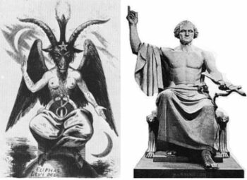 illuminati symbols Washington Baphomet