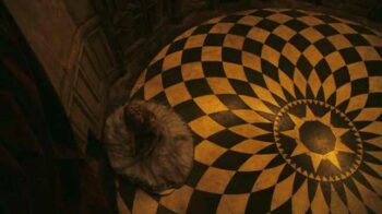 illuminati symbols alice in wonderland checkered floor