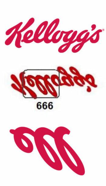 illuminati symbols kelloggs logo 666