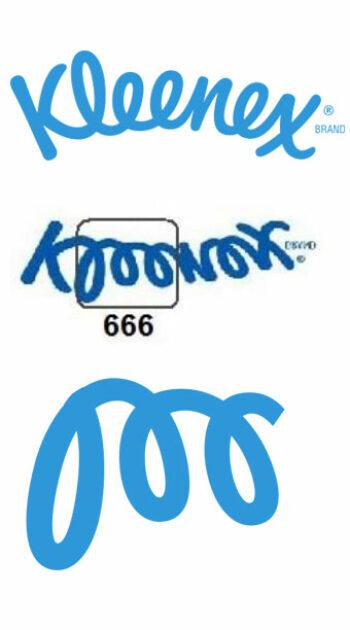 illuminati symbols kleenex logo 666