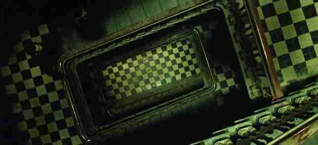 illuminati symbols matrix checkered floor