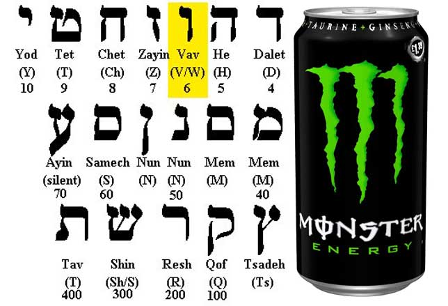 monster energy drinks 666 illuminati symbols