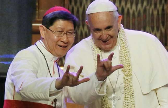illuminati symbols pope francis Cardinal Antonio Tagle Philippines